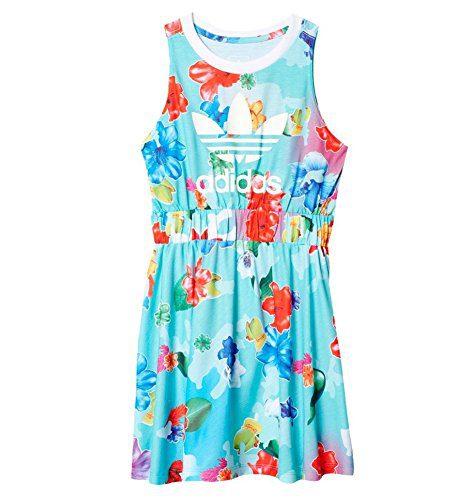 adidas Originals Dresses Big Girls' Flower, Floral Multi/White, X-Large