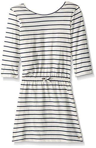 Roxy Big Girls' Lovely Daughters Stripe Dress, Marshmallow Heaven Stripe, 12/L