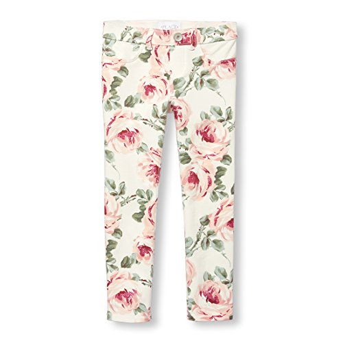 The Children's Place Big Girls' French Terry Jegging, Simplywht, 6