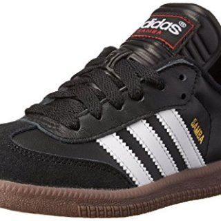 adidas Performance Kid's Samba Classic Athletic Shoe, schwarz/white, 4 M US Big Kid
