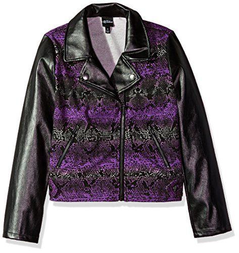 Disney Big Girls' Descendants Python Moto Jacket, Multi, M