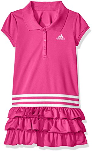 adidas Toddler Girls' Active Polo Dress, Neon Pink, 2T