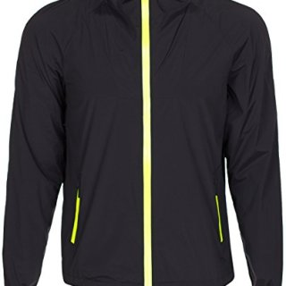 Gucci Viaggio Collection Men's Black Nylon Stretch Light Hooded Jacket, Black, 2XL