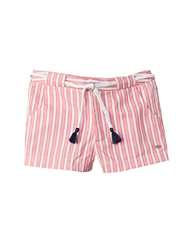 Tommy Hilfiger Girls Striped Short, 8, Pink