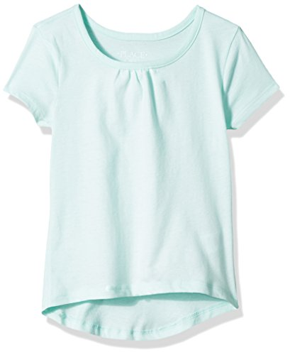 The Children's Place Big Girls' Short Sleeve Top, Green Bay, XXL(16)
