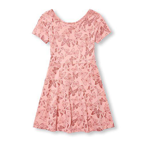 Children's Place Big Girls' Short Sleeve Pleated Dress