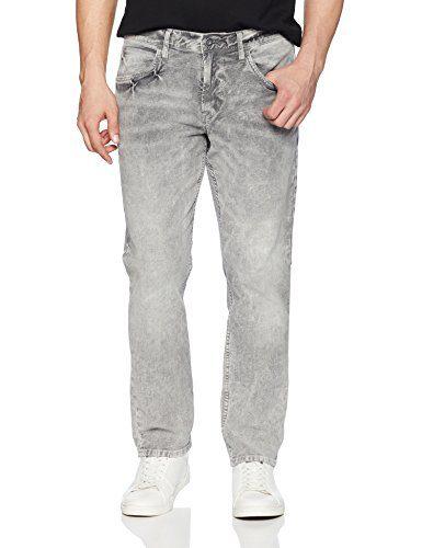 Hudson Jeans Men's Blake Slim Straight Zip Fly Twill, Deceiving, 30