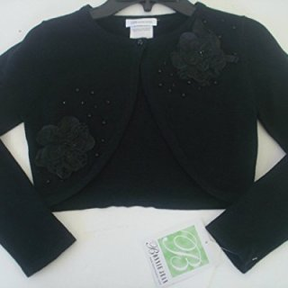 Bonnie Jean Girls Black Shrug Sweater (L)