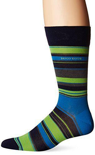BOSS HUGO BOSS Men's Rs Design Block Stripe, Navy, 7-13