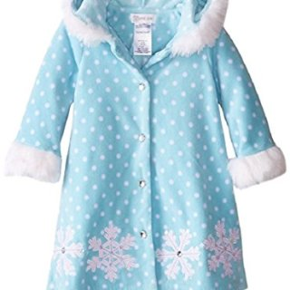 Bonnie Jean Little Girls' Snowflake Fleece Coat, Aqua, 24M