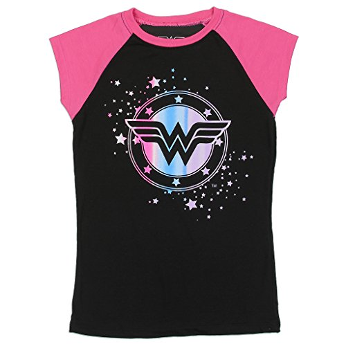 Wonder Woman DC Comics Big Girls Raglan Tee (14/16)
