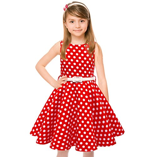 50s Vintage Swing Rockabilly Retro Sleeveless Party Dress