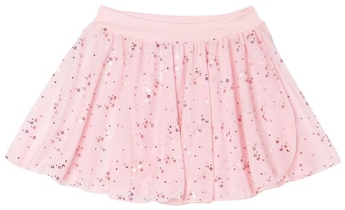 Capezio Big Girls' Pull-On Sequined Skirt, Pink, Large (12-14)