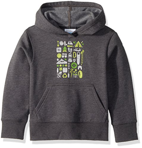Columbia Big Kids CSC Youth Hoodie, Shark Heather, M