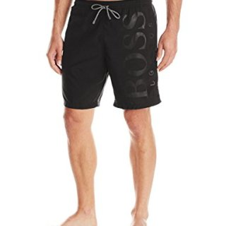 Hugo Boss BOSS Men's Orca Solid Swim Trunk, Black, Medium