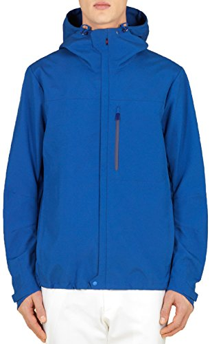 Gucci Men's Electric Blue Hooded Heat Sealed Windbreaker Jacket, Blue, XL
