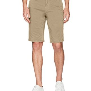 BOSS Orange Men's Slim Fit Cotton Stretch Chino Short, Khaki, 30