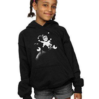 DC Comics Girls Harley Quinn Spot Hoodie 12-13 Years Black