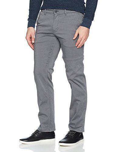 BOSS Orange Men's Schino-Slim D Basic Chino Pants, Dark Grey, 36/32