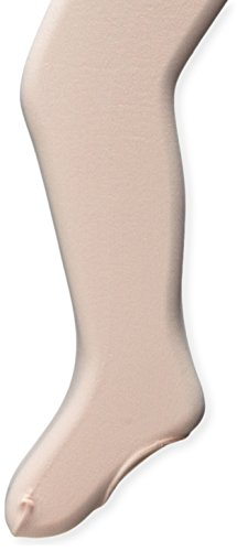 Capezio Big Girls' Mesh Transition Tight with Mock Seams, Ballet Pink, One Size (8-12)