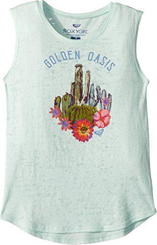 Roxy Big Girls' Golden Oasis Muscle T-Shirt, Bay, 10/M