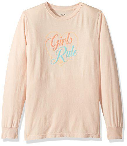 Roxy Big Girls' Rainbow Long Sleeve T-Shirt, Peach Whip, 14/XL