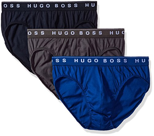 Hugo Boss BOSS Men's Brief 3p Us Co, True Blue/Sky Captain/Forged Iron, Medium