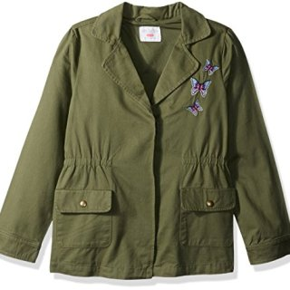 The Children's Place Big Girls' Light Jacket, Dark Stinger, XXL(16)