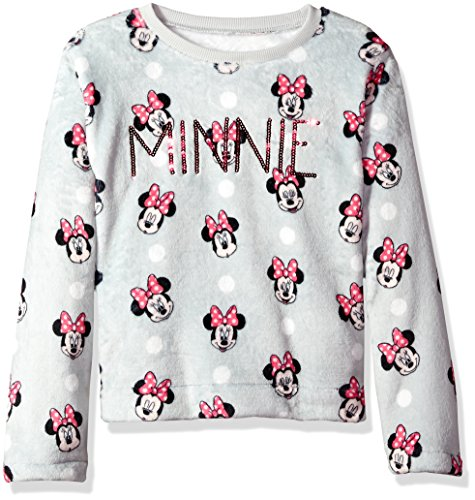 Disney Big Girls' Minnie Mouse Woobie Long Sleeve Pullover Sweater