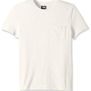 Hudson Jeans Men's Crewneck Pocket Tee Shirt, Off White, MD