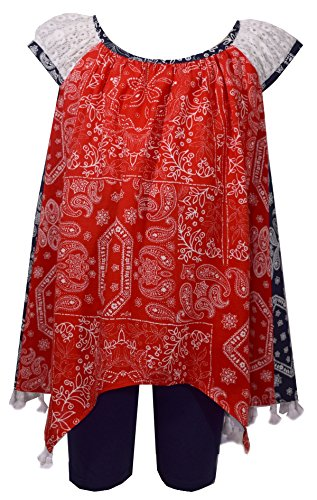 Bonnie Jean Girls Patriotic 4th of July Summer Shorts Set (2t-6x) (5)