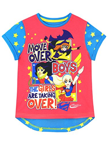DC Comics Girls' DC Superhero T-Shirt Size 7