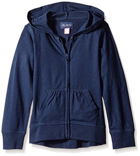 The Children's Place Little Girls' Uniform High-Low Hoodie, Tidal, Small/5/6