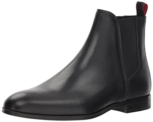 Hugo Boss Hugo by Men's Boheme Leather Chelsea Boot, Black, 43 M EU (10 US)
