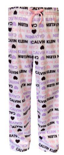 Calvin Klein Girls Pink Purple Hearts Girls' Pajama Pants (7/8)