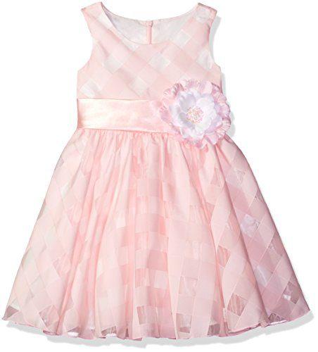 Bonnie Jean Big Girls' Sleeveless Side Sash Party Dress, Pink, 7