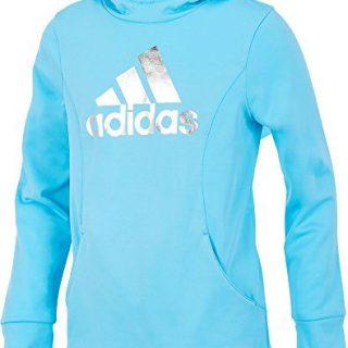 adidas Kids Girl's Performance Sweatshirt (Big Kids) Bluefish Medium