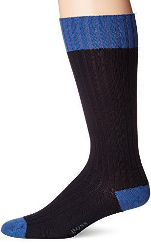 BOSS HUGO BOSS Men's Boot Sock Us Cc, Navy, 7-13
