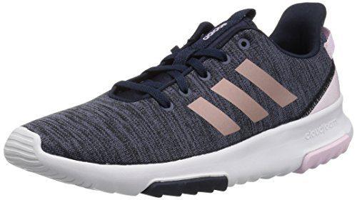 adidas Kids CF Racer TR Running Shoe, Legend Ink/Vapour Grey Metallic/Aero Pink, 3.5 M US Big Kid