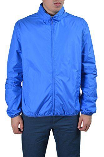 Gucci Men's Blue Full Zip Hooded Windbreaker Jacket US XL IT 54;