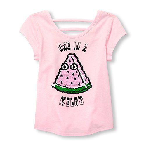 The Children's Place Big Girls' Short Sleeve Top, Pink Admirer, XS (4)