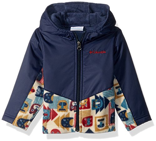 Columbia Toddler Girls' Steens Mt Overlay Hoodie, Collegiate Navy Critter Blocks, 2T