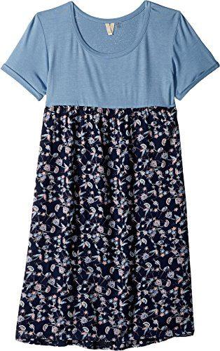 Roxy Big Girls' Branche of Lilac Dress, Dress Blues Beyond Way Small, 12/L