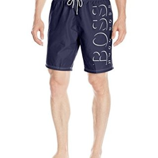 Hugo Boss BOSS Men's Killfish Swim Trunk, Navy, Medium