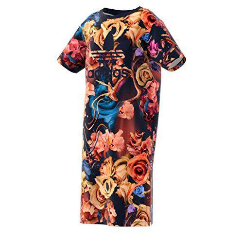 adidas Originals Kids Girl's Rose Dress (Little Kids/Big Kids) Multicolor/Legend Ink Dress