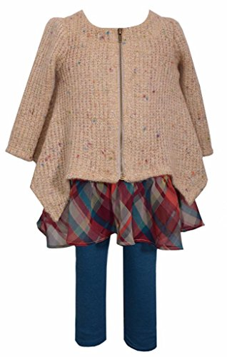 Bonnie Jean 2 Pc Sweater and Legging Set, Girls, Multi-Color, Sz 6
