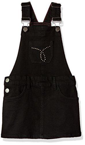 Calvin Klein Big Girls' Studded Skirtall, Anthracite, Large (12/14)