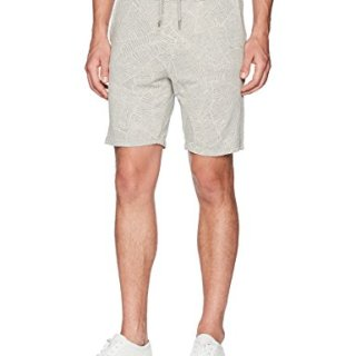 BOSS Orange Men's Banana Leaf Pattern Lounge Short, Gray, Large