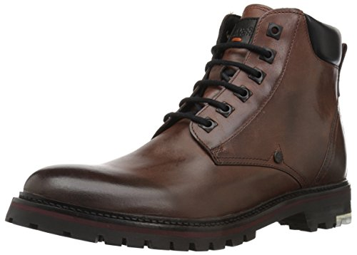 Hugo Boss BOSS Orange by Men's Hero Leather Half Fashion Boot, Rust/Copper, 9 M US
