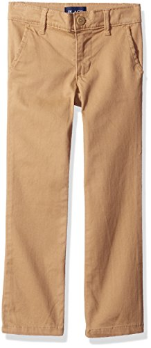 The Children's Place Big Girls' Skinny Uniform Pants, Sesame, 8